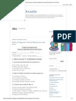Apoyo Docente_ Prueba de Diagnostico Ciencias Naturales Tercer Año Básico
