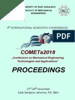 Zbornik (Proceedings) COMETa 2018