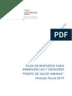 Plan de Respuesta para Emergencias y Desastres  Imbana 2019.docx