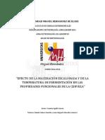 Efecto de la maceración escalonada y fermentación en las propiedades de la cerveza