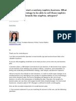 Branding - Marketing Strategy for Sanitary Business