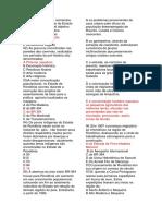 Questões - Geografia de Rondônia IX - Prof. Adão Marcos