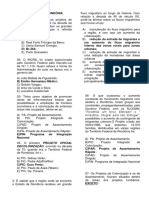 Questões - Geografia de Rondônia XI - Prof. Adão Marcos