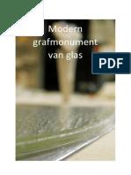 Moderne Grafmonument van Glas