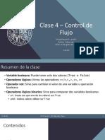 Clase 4 - Control de Flujo