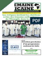 semaine Africaine Mardi 15 Octobre 2019