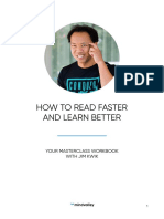 How to Read Faster & Learn Better by Jim Kwik Masterclass Workbook