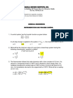 Process Control Problems