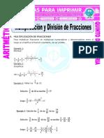 Multiplicación y División de Fracciones Para Quinto de Primaria