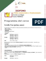 Programma SAX Luca Biggio