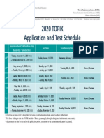 2020 TOPIK Test Schedule and Application Dates