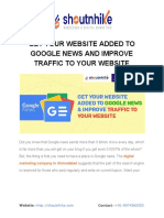 GET YOUR WEBSITE ADDED TO GOOGLE NEWS AND IMPROVE TRAFFIC TO YOUR WEBSITE