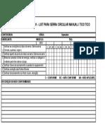 Check List Serra Circular Manual