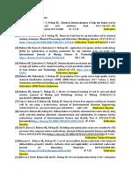 List of Journal Publications