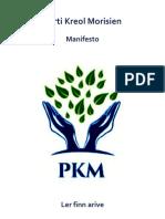 Manifesto Parti Kreol Morisien
