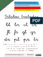 Cuadernillo de Lectoescritura Sílabas Trabadas