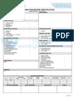 WPS format for ASME IX - WPS - SAW