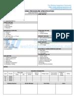 WPS format for Asme Ix - Wps - Smaw