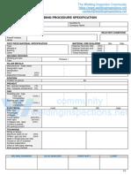 WPS format for ISO 15614-1 WPS