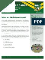 Skill Biased Games Pamphlet