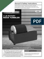 3 LB Rotatory Rock Tumbler