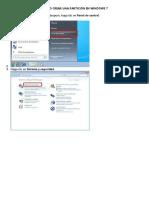 Crear Particiones de Windows