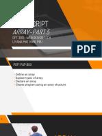 TOPIC 4 Part5 - Array