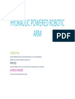 Hydraulic Powered Robotic Arm