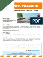 Agrandissement Ecole Suzanne Lacore
