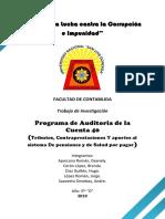 Auditoria Superior Cuenta 40