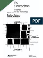 El Costo de Los Derechos. Sunstein y Holmes