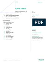 Pivotal ExamBrief SpringProfessional