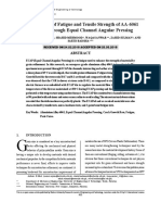 Augmentation of Fatigue and Tensile Strength of AA-6061 Processed Through Equal Channel Angular Pressing