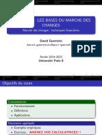 Chapitre 1 _ Les Bases Du Marche Des Changes