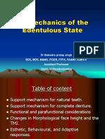 Biomechanics of Edentulous State