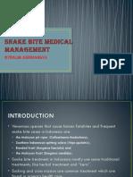 Snake Bite Medical Management