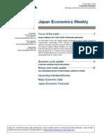 Japan Economics Weekly