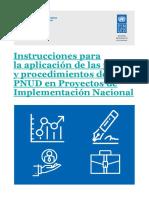 Guía de instrucciones proyectos PNUD