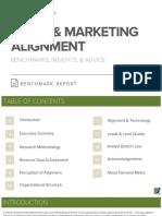 Sales Marketing Alignment Benchmark Report