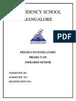 IR Sensor Investigatory Project