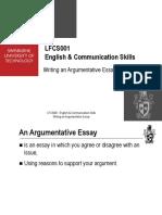 11598202 Writing an Argumentative Essay