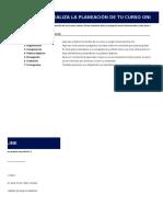 Guía de Planeación de Cursos Online