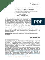 Evaluacion de La Politica de Privatizacion en Las Empresas Estatales de Colombia