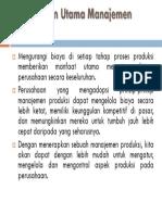 Keuntungan Utama Manajemen Produksi