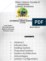 Automated Library Management System