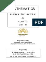 Mll Study Materials Maths Class x 2017 18