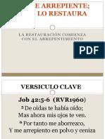 Job Se Arrepiente; Dios Lo Restaura