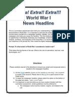 world war i summative directions
