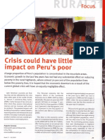 Peru. Agriculture, rural development and the international financial crisis. Augusto Cavassa