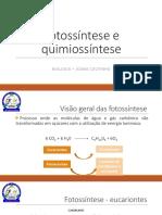 Fotossintese e Quimiosintese